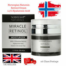 Retinol Cream Hyaluronic Acid Serum 2.5% Strong Anti Wrinkle Ageing Face 50ml UK