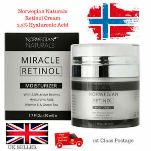 Retinol-Cream-Hyaluronic-Acid-Serum-2-5-Strong-Anti-Wrinkle-Ageing-Face-50ml-UK