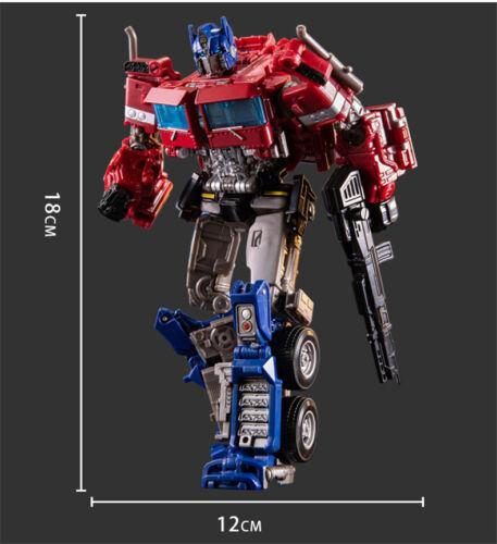 "7/"" SS38 Optimus Prime Transformers Alloy Level V Action Figure Toy Blue Black"