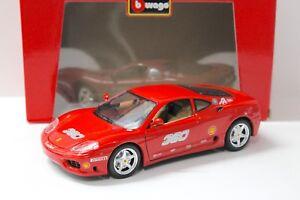 1-18-Bburago-Ferrari-360-Modena-034-Desafio-034-rojo-360-nuevo-con-coches-PREMIUM