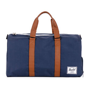 f8088a0b04 Herschel Supply Co. Novel Duffel Navy Tan Bag 4079 for sale online ...