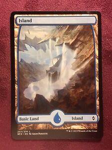 Battle-for-Zendikar-Full-Art-Land-Island-257-VO-MTG-Magic-Mint-NM