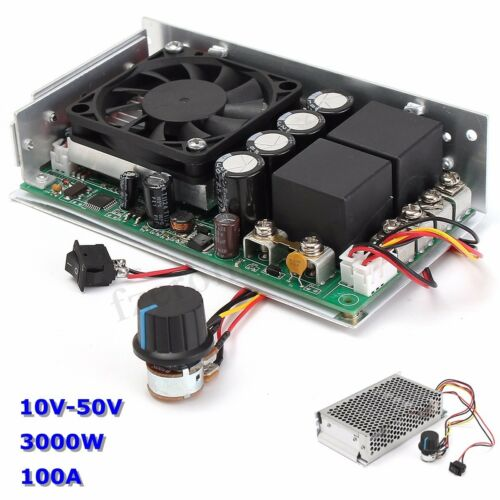 10-50V 100A 3000W Programable Reversible DC Motor PWM Control Speed   o