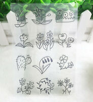 Flower Silicone Rubber Clear Stamp Seal Scrapbooking Diary Christmas Card