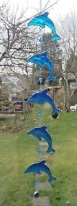 5-DOLPHINS-SUN-CATCHER-60-cm-STAINED-GLASS-EFFECT-with-BEADS