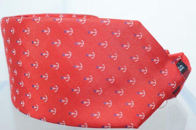 d674bf9e48ca Salvatore Ferragamo Anchor Men's Tie Red 100 Silk Neckwear Accessories Sale