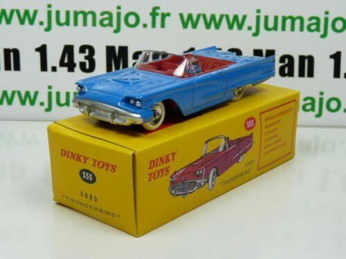 DT12E Auto Reissue Dinky Spielzeug Atlas UK:555 Ford Thunderbird Blau UK
