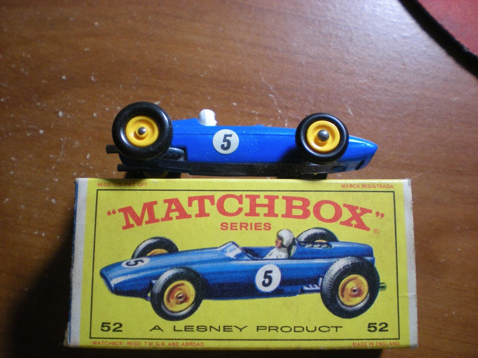 VINTAGE LNIB MATCHBOX LESNEY   52 BRM RACE CAR