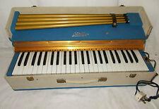 OTELLO Vintage ELECTRIC Organ CASED Italian 49 Key BLUE Retro W/ LEGS Suitcase