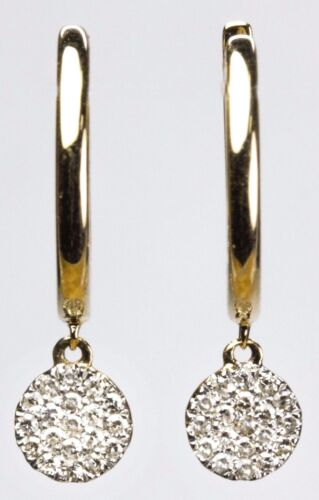 Dangling Earring with Diamond in 14k Yellow Rose or White Gold D 0.11