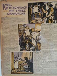 1906 Vintage Newspaper King Fintonnach-Seumas Macmanus-Night in a Harem