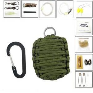 Kit-11-in-1-SOPRAVVIVENZA-emergenza-campeggio-caccia-coltello-paracord-fuoco