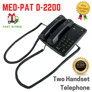 MED-PAT D-2200 2 Can Talk 2 Dual Handset Conference Phone
