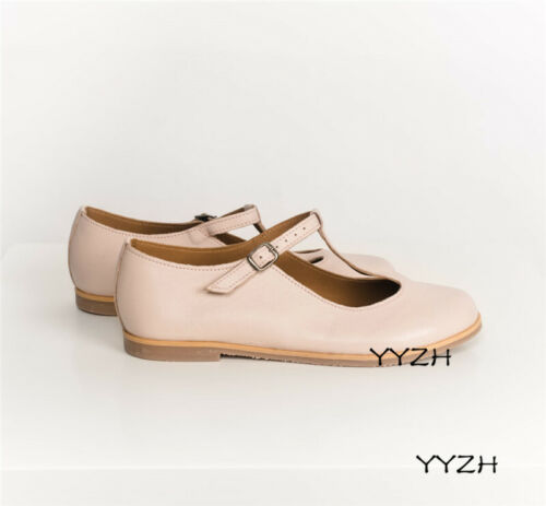Details about  /Retro Women/'s T-strap Mary Janes Round Toe Flats Cute Lolita Pumps Casual Shoes