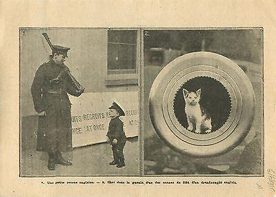 Bereidwillig Wwi British Army Trainee Recruitment London/gun Dreadnought Uk 1915 Illustration