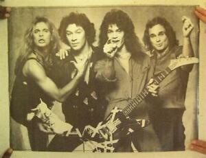 04d628346c6 Van Halen Poster David Lee Roth Eddie Michael Anthony Women And ...
