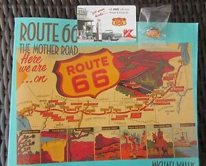 ROUTE-66-1ST-EDITION-RT-66-BOOK-RT-66-TELEPHONE-CARD-amp-RT-66-PIN-034-3-034-ITEMS