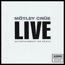 MOTLEY CRUE (2 CD) LIVE : ENTERTAIMENT OR DEATH ~ NICKI SIXX~TOMMEY LEE *NEW*
