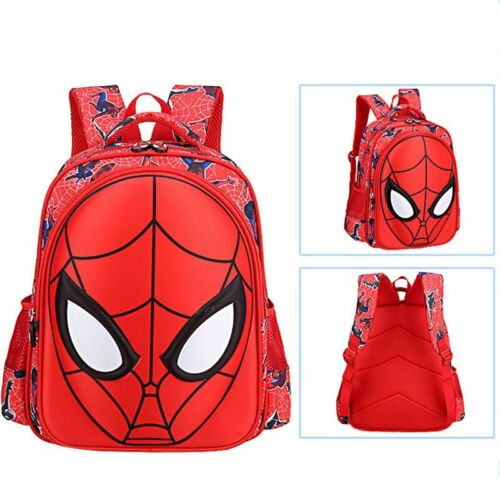 Hot Nice Fashion 3D Cool Spiderman School Bag Backpack For Boys Kids Children