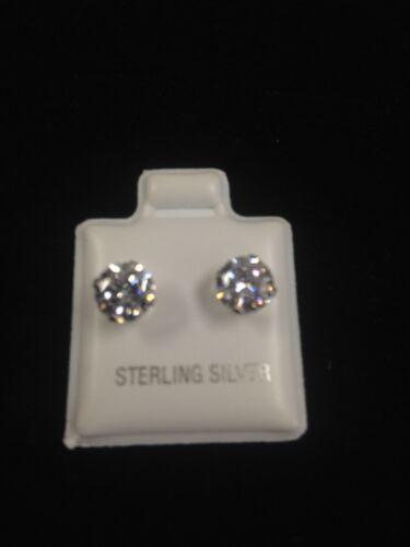 CZ Earrings Sterling Silver
