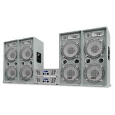 DJ PA MUSIK ANLAGE SET 4x DOPPEL SUBWOOFER LAUTSPRECHER BOX 2x VERSTÄRKER 4000W