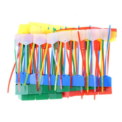 100Pc Colourful Nylon Self-Locking Label Tie Network Cable Marker Wire Strap ZY