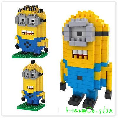 Set of 3Pcs Minion mini figures Despicable me Toy LOZ Diamond Nano Blocks UUK
