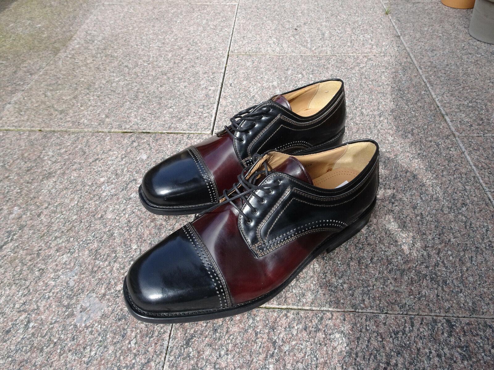 Schuhe Echtleder Ledersohle Größe 13    49 elegant braun   schwarz Depeche