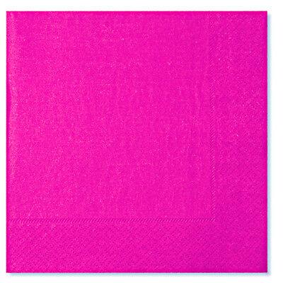 Schietto Tovaglioli Rosa Fucsia Pink 33x33 Cm. Cf.20 Pz. Coordinato Party Tinta Unita Sapore Fragrante (In)