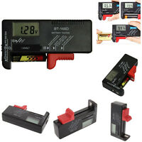 Digital Lcd Display Universal Battery Buttons Cell Tester Checker Aa Aaa 9v 1.5v