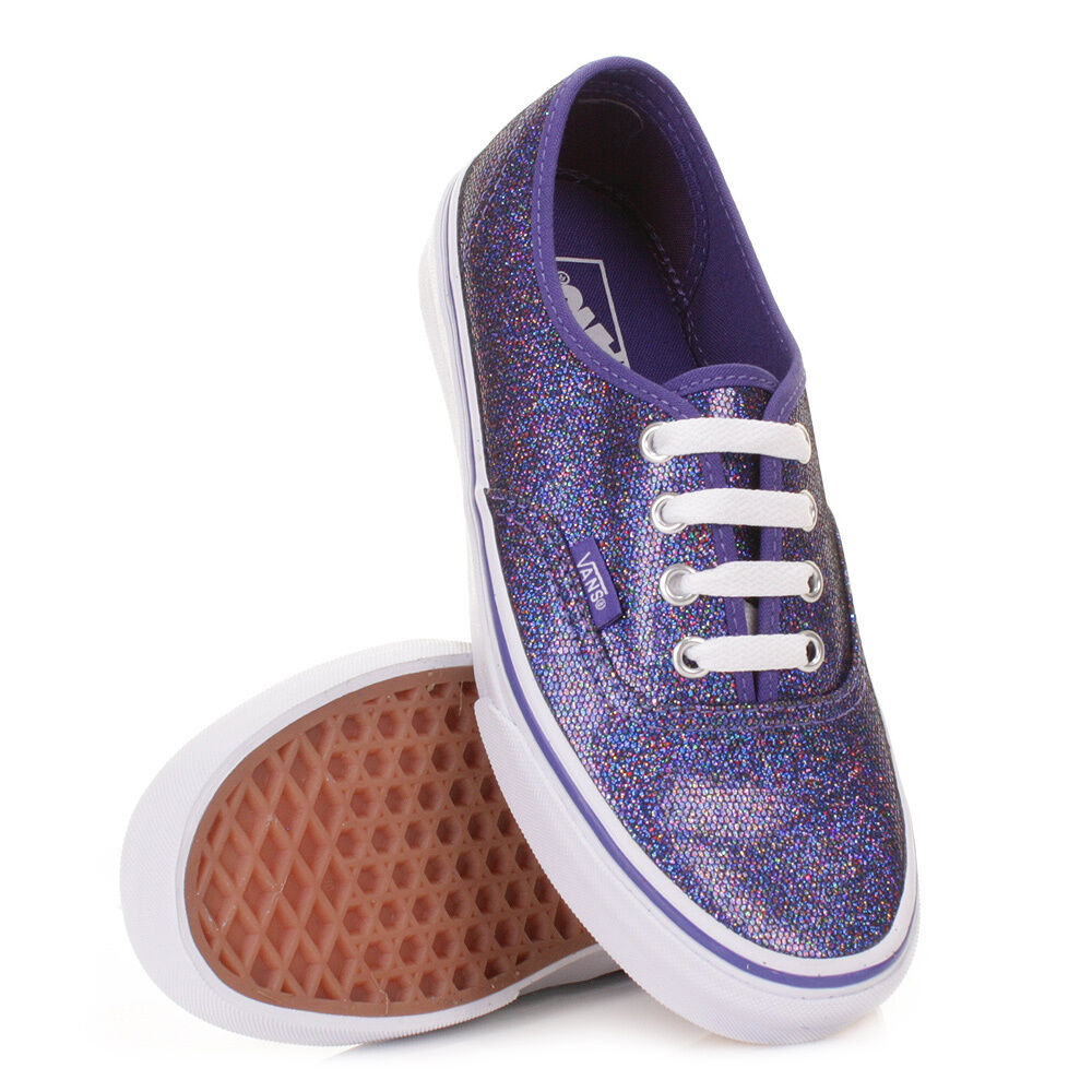 VANS AUTHENTIC IRIDESCENT GLITTER Blau Weiß schuhe MENS 3.5 damen SZ 5 21.5 CM
