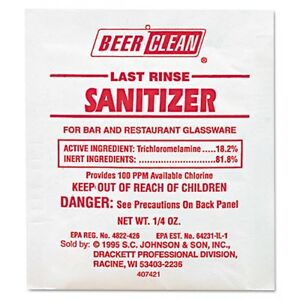 Diversey Beer Clean Last Rinse Glass Sanitizer - 90223