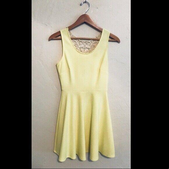 Gianni Bini Bright Yellow Aline Dress. Size Small - image 1