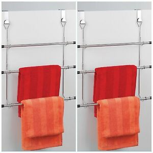Image Is Loading Chrome Over Door Towel Rail 3 Tier Towel