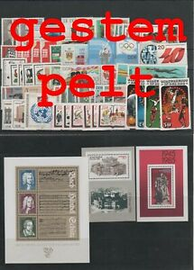 Germany-GDR-vintage-yearset-Complete-1985-Postmarked-Used-complete-Complete