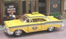 1957 Chevrolet Bel Air Yellow Taxi CAB in a 140 Scale Diecast by Kinsmart Dc798