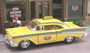 New-1-40-Scale-1957-Chevrolet-Bel-Air-Chevy-Taxi-Cab