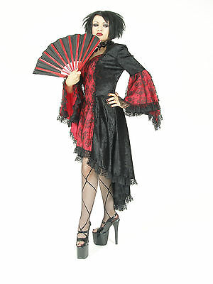 Eternal Love Plus Size Black Pewter Gothic Belle Dame Dress Gown 2X 3X 4X 5X