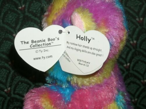 """Ty Boo HOLLY JUSTICE Exclusive 2013 HEDGEHOG 6/"""" Mint//Mint tag RARE"""