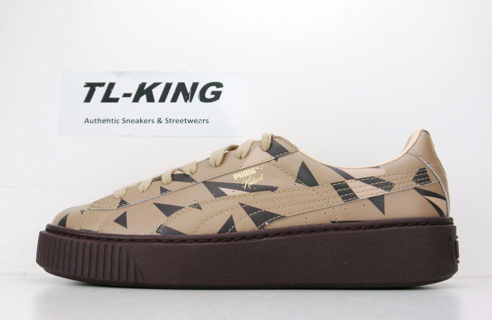 Puma Damenschuhe Naturel Platform Cheetah Thick Bottom Wedge 364458 01 120 AT