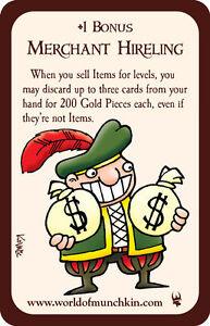 Munchkin-Merchant-Hireling-Promo-Card-John-Kovalic-Art-Steve-Jackson-Games-NEW
