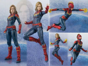 SHF-S-H-Figuarts-Marvel-Avengers-Endgame-Captain-Marvel-Action-Figure-18cm-NoBox