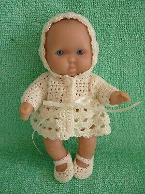 """Ben Informato Hand Crochet Set Per Un 5"""" Berenguer Doll/bambola Di Dimensioni Simili-mostra Il Titolo Originale"""