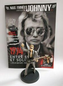 Figurine-Johnny-Hallyday-14-cm-Neuf-en-boite-magazine-N-1-Collection-statuette