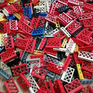 LEGO-PARTS-x30-Qty-Fences-diamond-cross-mesh-pattern-Mixed-Color-Excellent