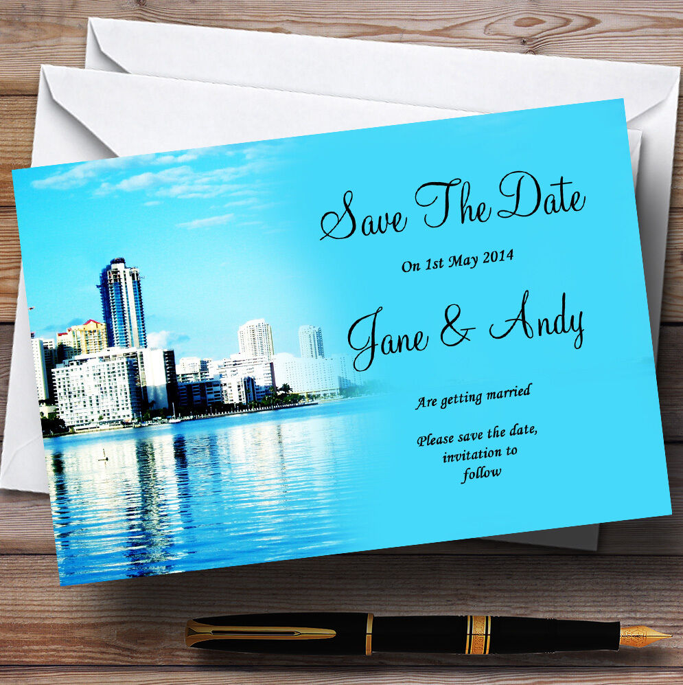 Miami en Floride Personnalisé Mariage save the the save date cards f771a4