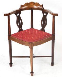 Antique-Inlaid-Walnut-Corner-Chair-FREE-Shipping-PL4554