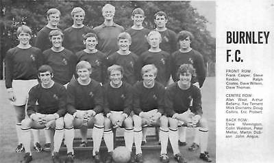 BURNLEY FOOTBALL TEAM PHOTO>1970-71 SEASON