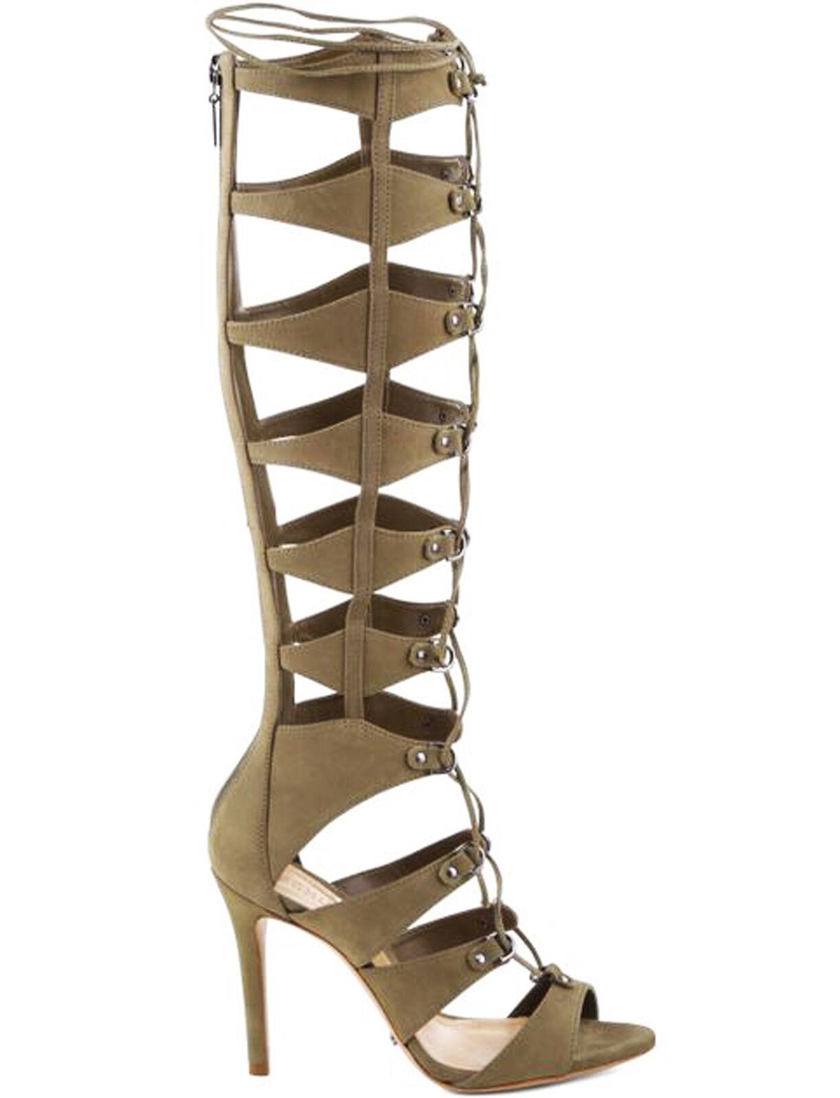 Schutz Saffira Comfrey Olive Grün Lace Up High Heel Sexy Gladiator Sandales