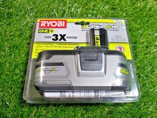 **NEW**   Ryobi P192 One+ 18V 4.0Ah Li-Ion Battery